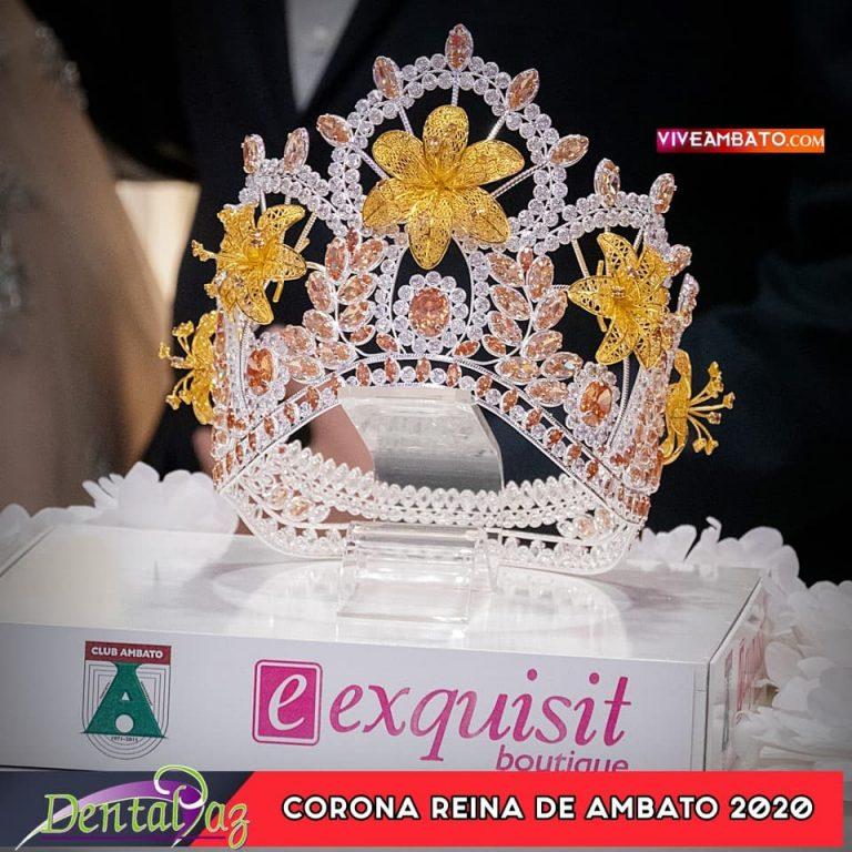 Develacion de la Corona Reina de Ambato 2020