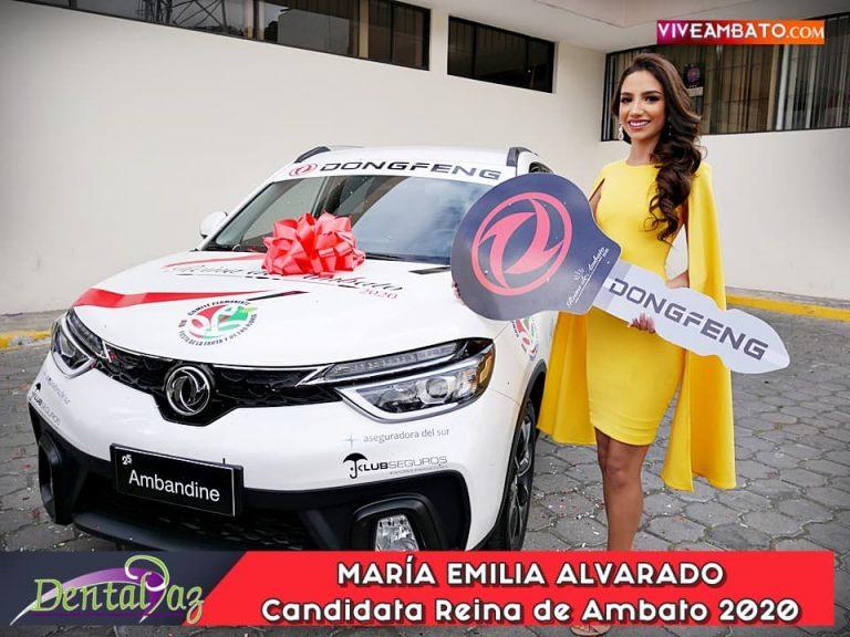 María Emilia Alvarado candidata a Reina de Ambato 2020