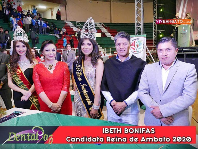 Ibeth Bonifas candidata a Reina de Ambato 2020